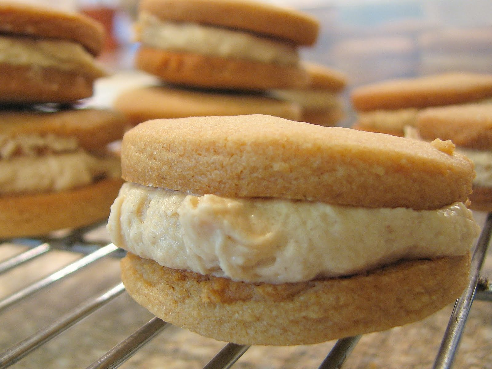 Delectably Mine: Peanut Butter Sandwich Cookies
