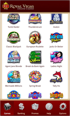 Royal Vegas Android Games