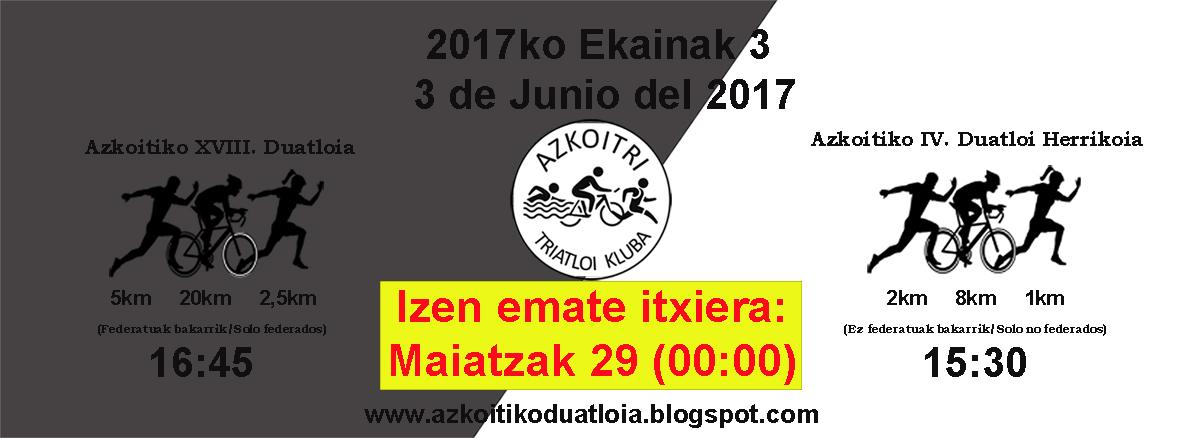 2017 Azkoitiko Duatloiak