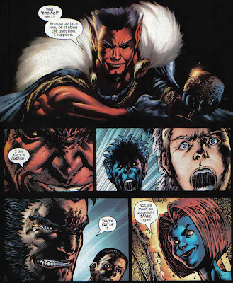 That panel of Azazel? Good. That last panel of Mystique? Not good.