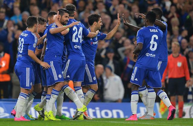 A expressiva vitória devolve a confiança ao time do Chelsea (foto:: GLYN KIRK/AFP)