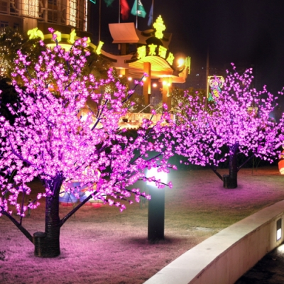 Another great look for lovers of pink for the holidays is to add pink  Christmas tree lights to your