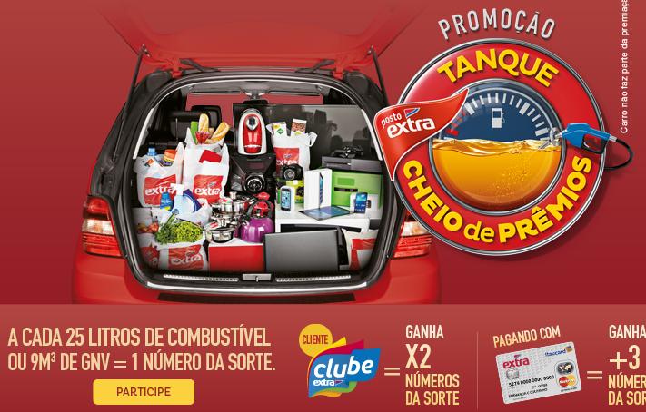 """Promoção """"Tanque Cheio De Premios"""" - Posto Extra"""