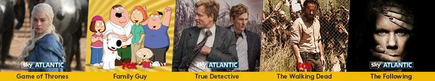 Watch Game of Thrones, Family Guy, True Detective, The Walking Dead, The Following online