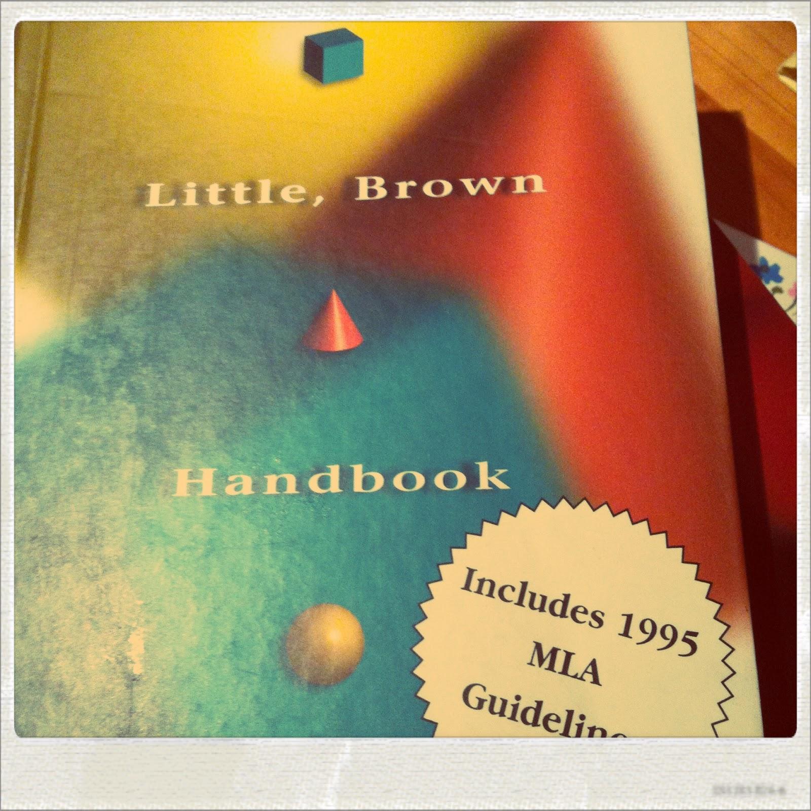 Little brown handbook thesis