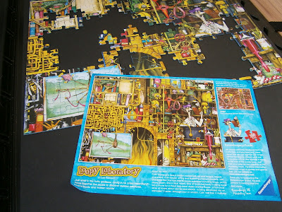 completing a puzzle fun picture of nutty professor