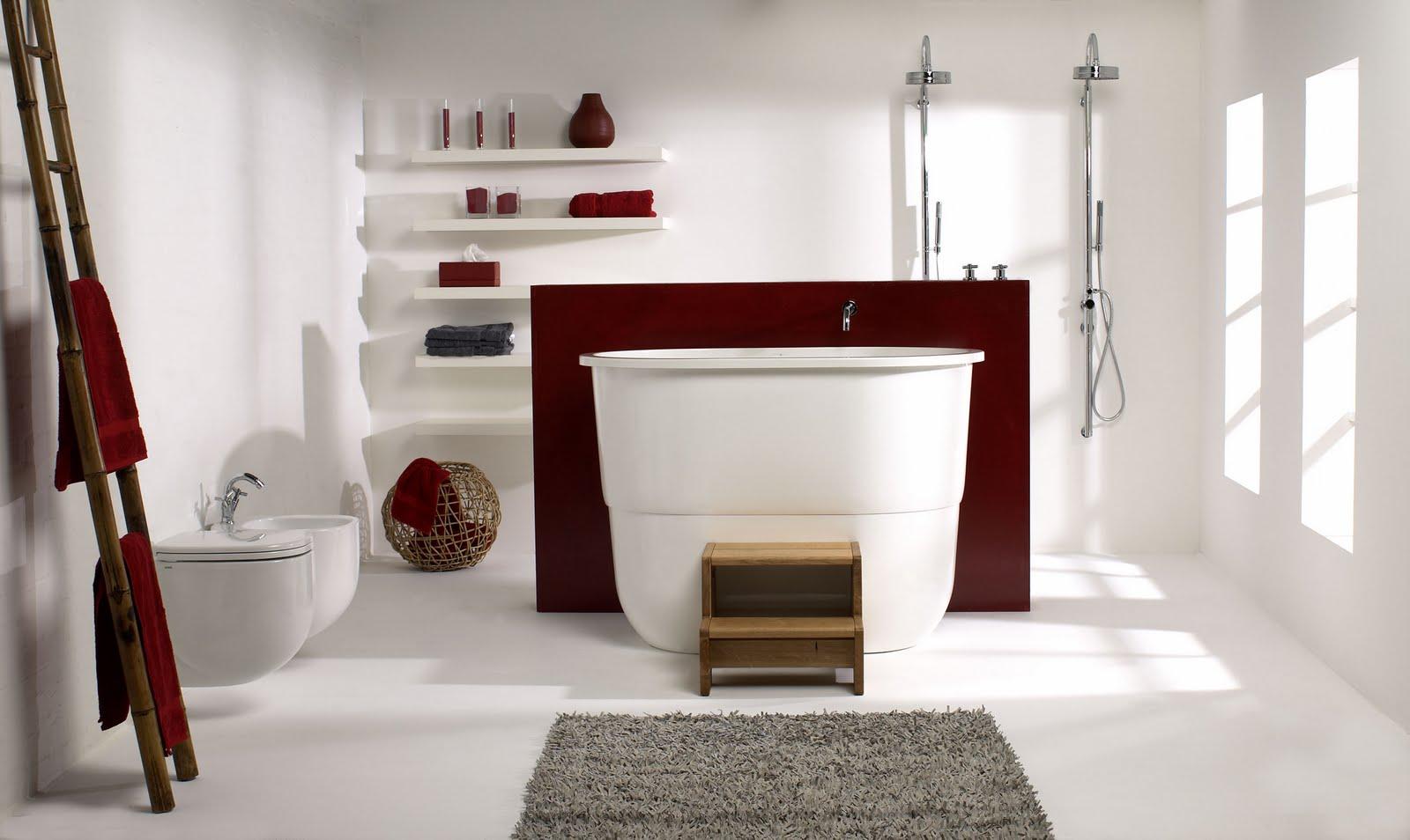 dicas de decoracao de banheiro com banheira moderna 4.jpg #38140F 1600x954 Banheira Para Banheiro Usada