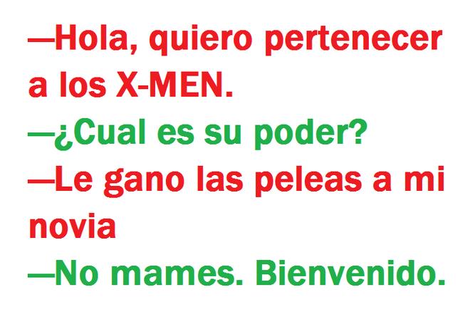 Quiero pertenecer a los x-men