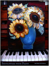 Sunflowers on my piano