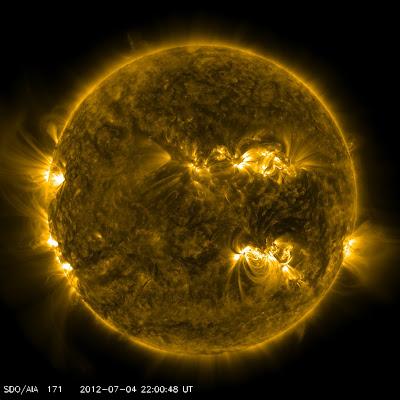Manchas solares activas 04 de Julio 2012