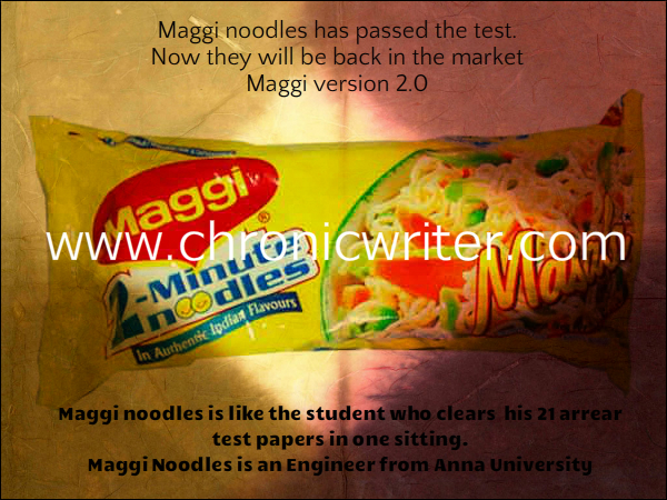 764. Maggi Noodles is an Engineer