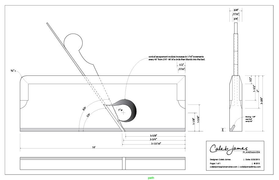 Wood Shoulder Plane Plans