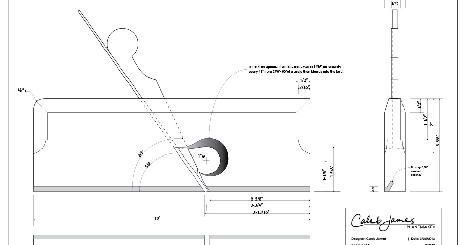 Caleb James Chairmaker Planemaker: Free Wooden Rabbet Plane Plans