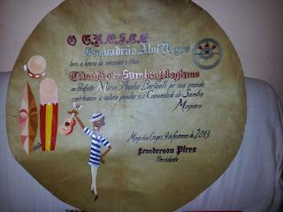 Esboço do Diploma - Nanquim e tinta acrílica