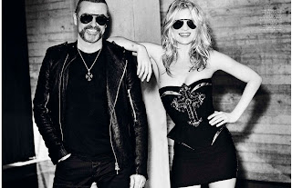Kate Moss and george michael posing for Vogue France October 2012