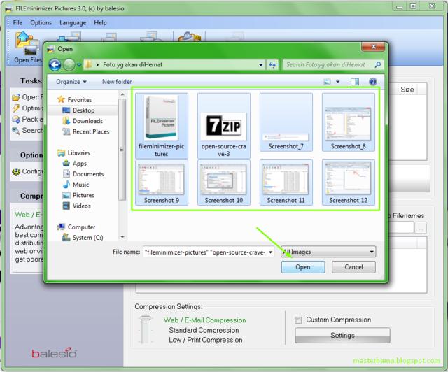 FILE Minimizer Pictures Software Untuk Mengompres Gambar/Foto