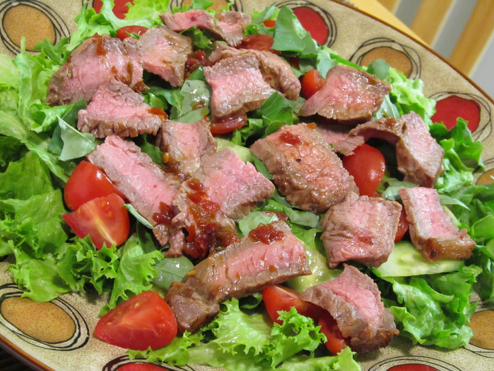 Spicy Basil Beef Salad Recipe — Dishmaps