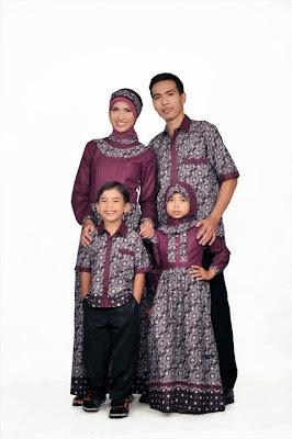 Batik Lereng 43 family ungu burgundhy