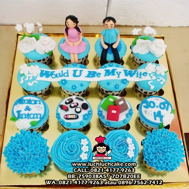 Cupcake Lamaran Would You Be My Wife Daerah Surabaya Sidoarjo