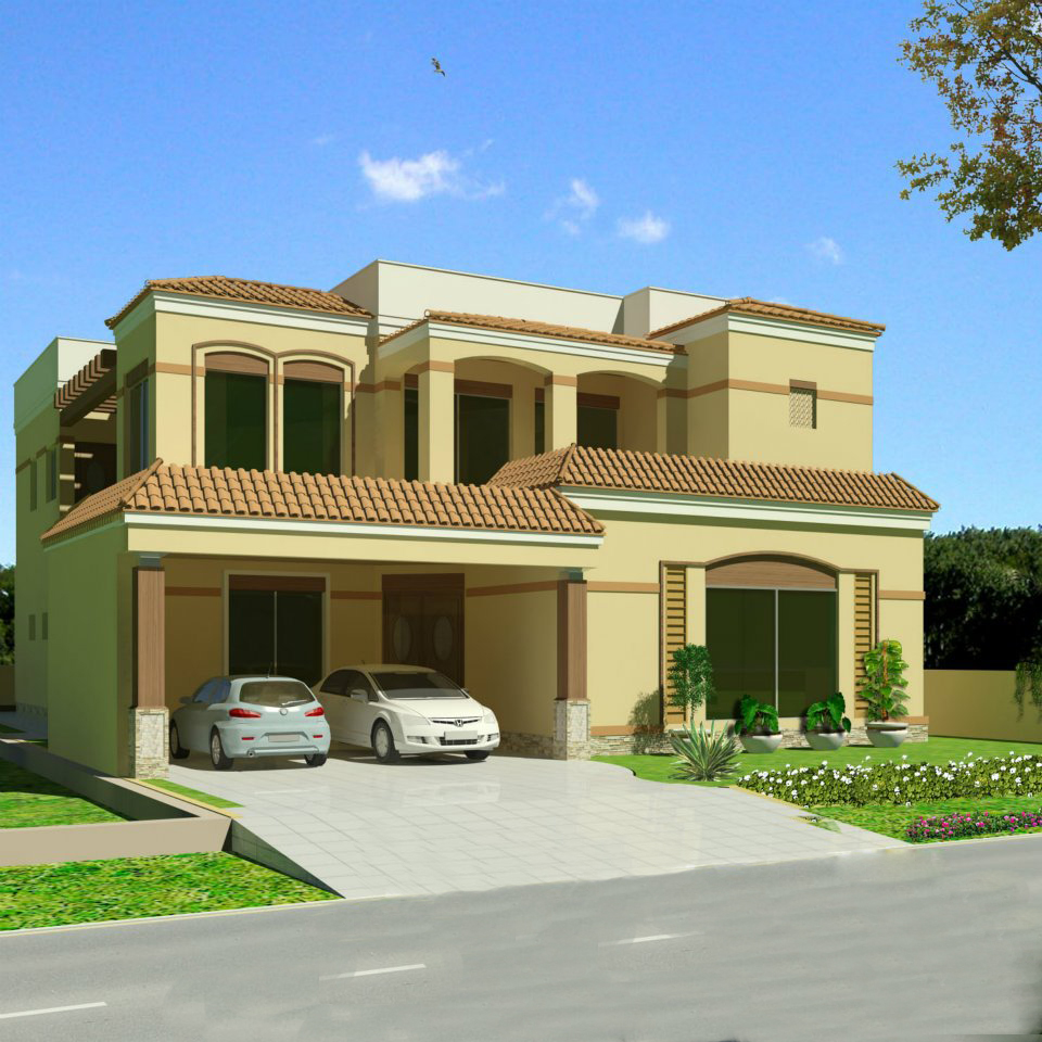 Pakistani house elevation joy studio design gallery for Pakistani new home designs exterior views
