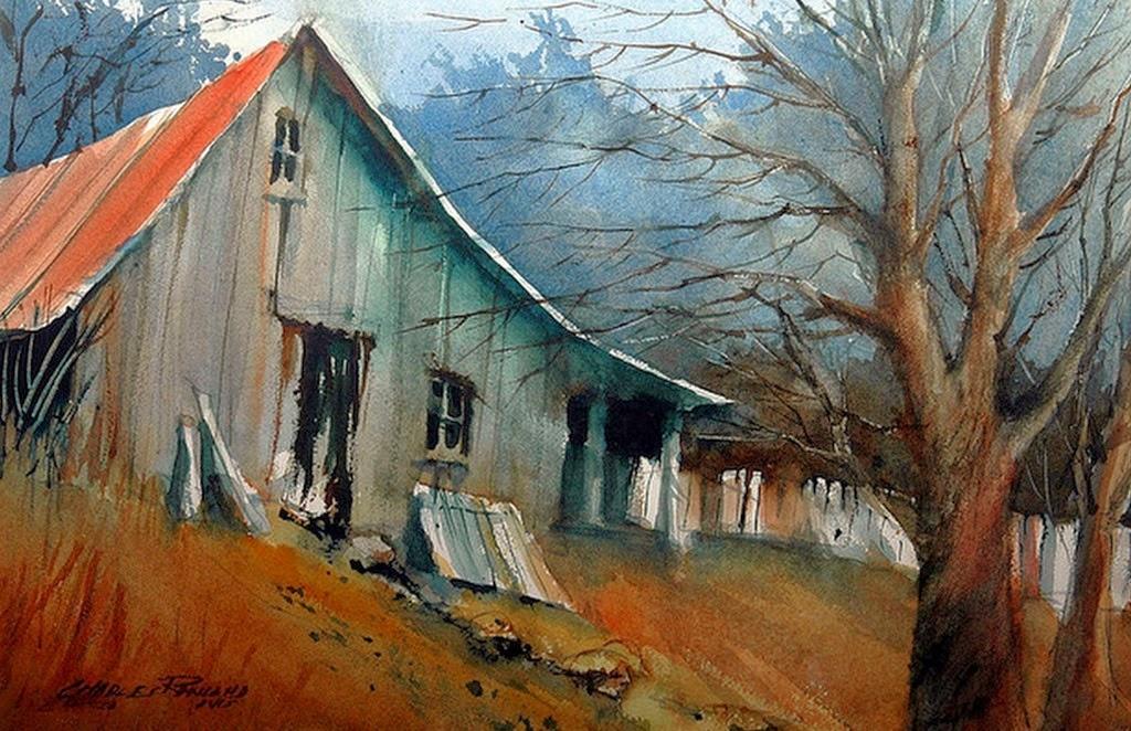 imagenes-de-paisajes-con-casas-acuarelas
