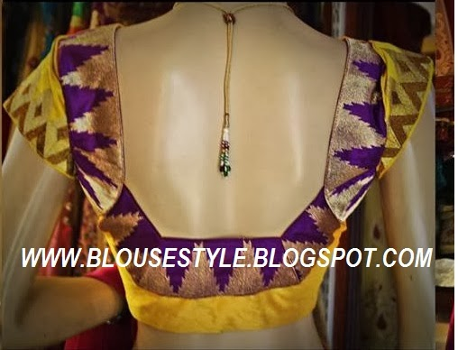 WEDDING SILK SAREE BACK NECK BLOUSE