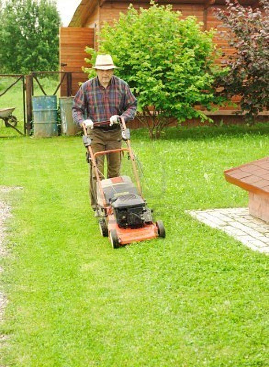 Arte y jardiner a el cuidado del c sped labores de - Cortar hierba alta ...