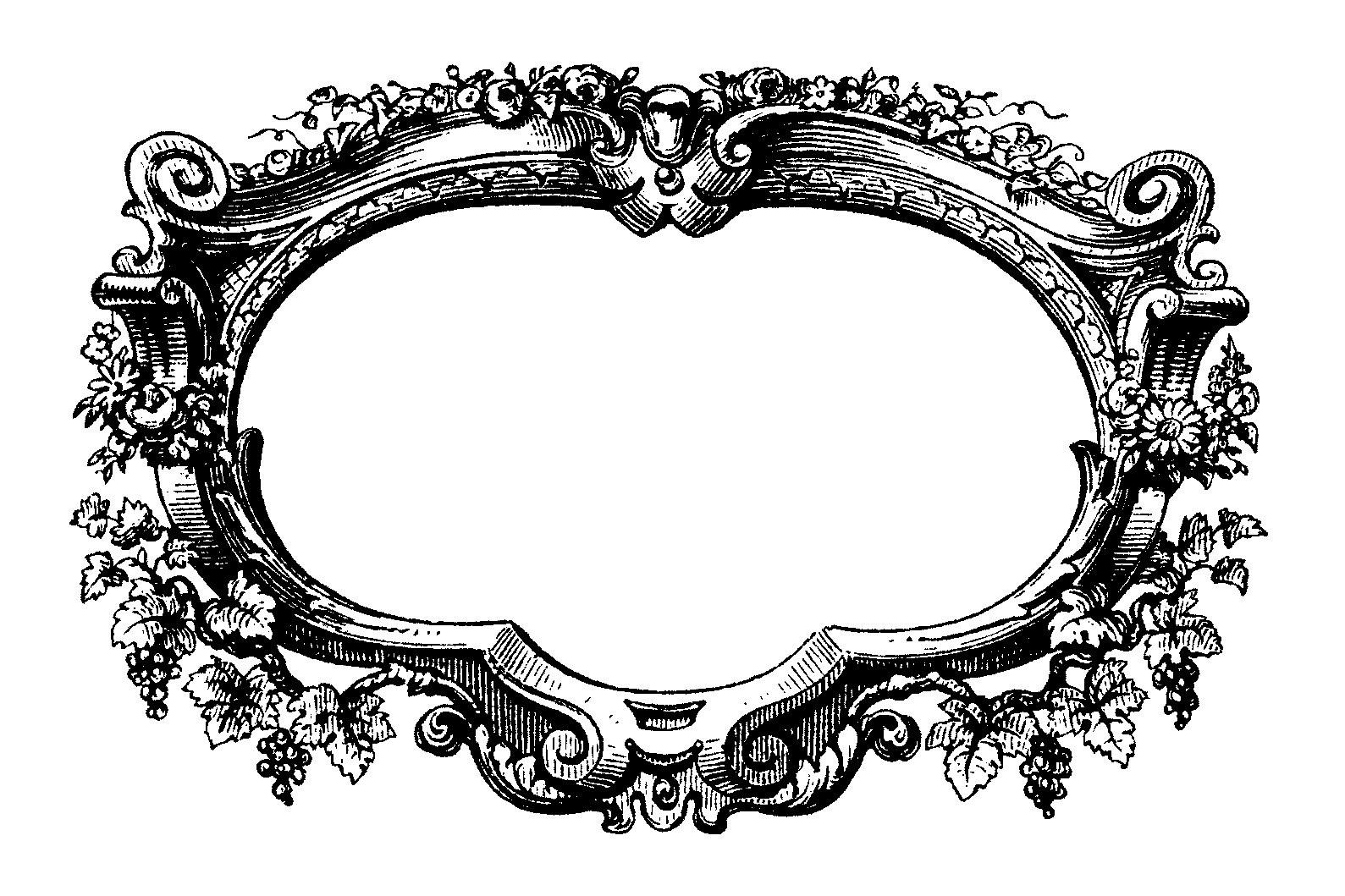 Filigree Frame Clip Art