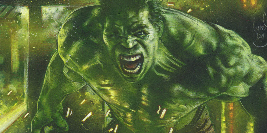 Hulk, Mark Ruffalo, Artwork is Copyright © 2014 Jeff Lafferty