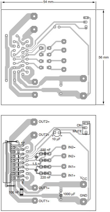 AmplifierCircuits com 2x15W