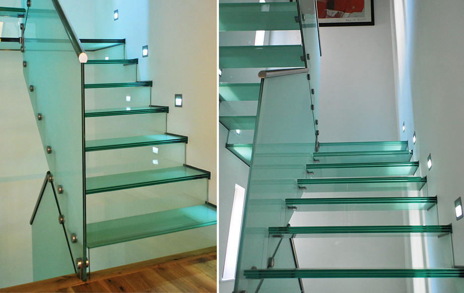 Installation Of Glass Staircases   Glass Staircases