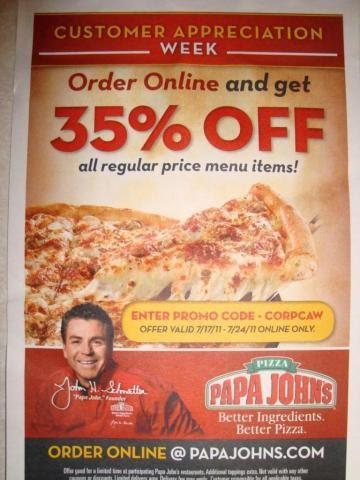 Papajohns coupons