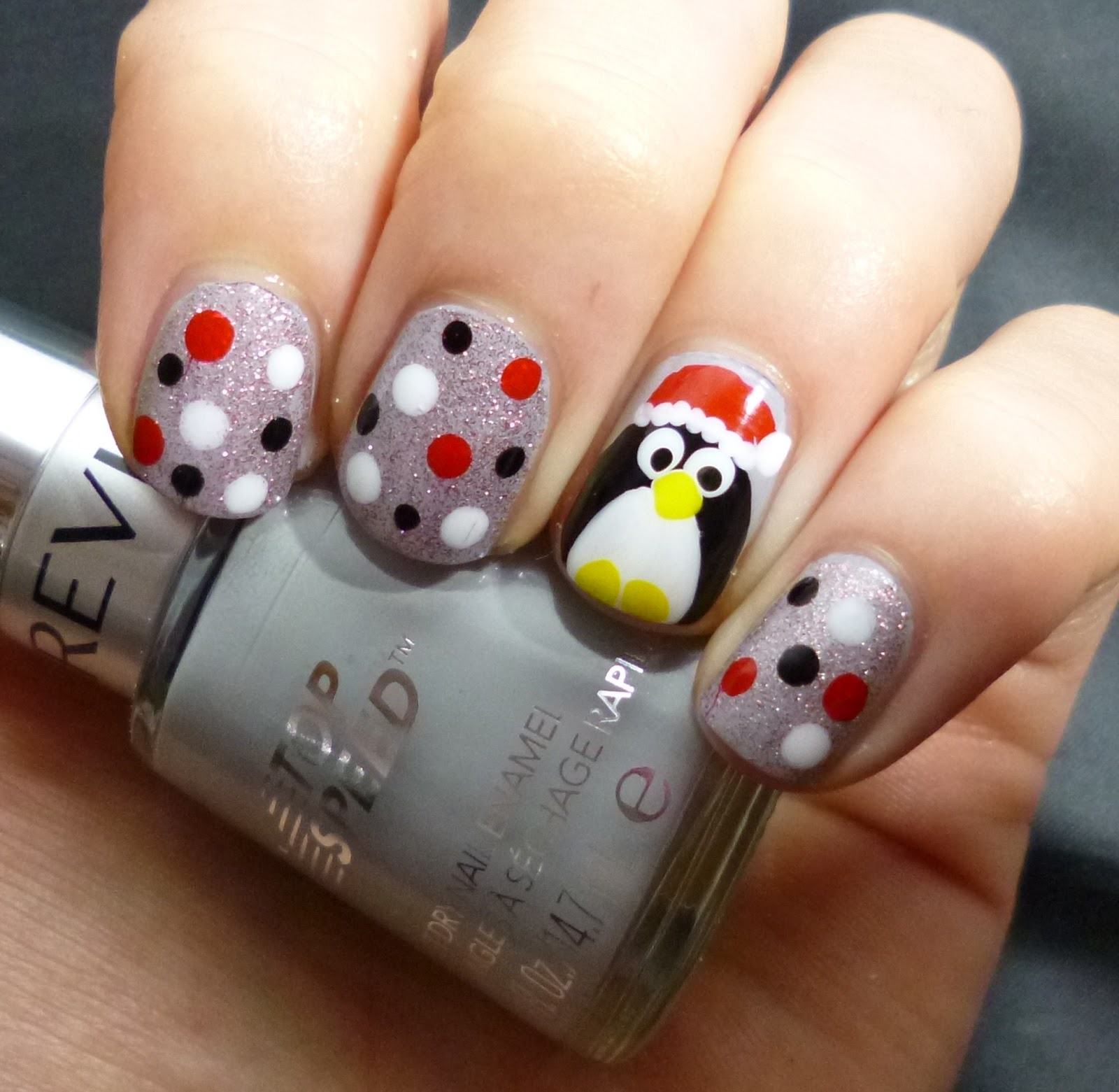 Lou Is Perfectly Polished: Christmas Nails: Penguin