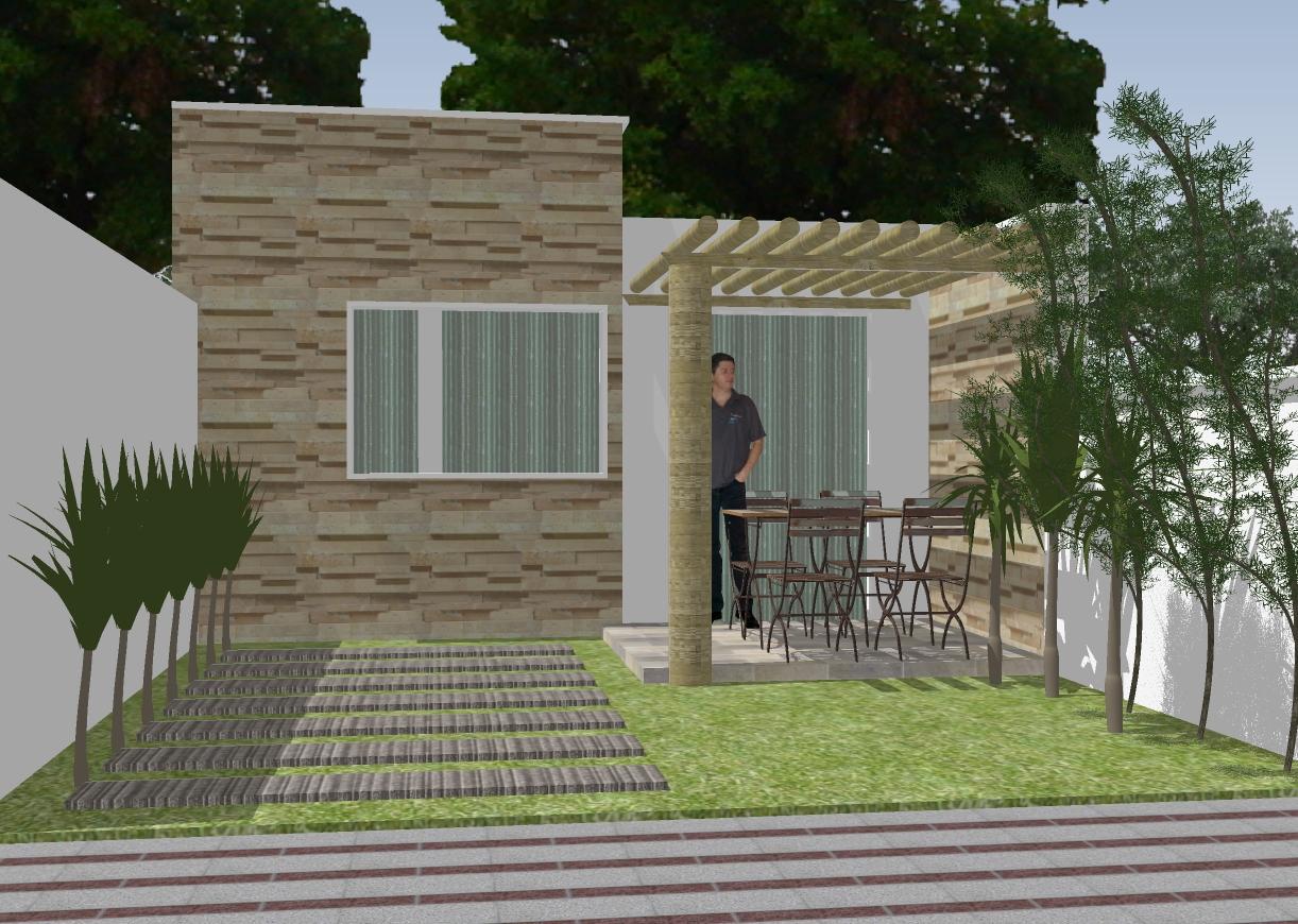 #232A16 Casa 01 quarto em terreno pequeno 10 x R$7 90 Clique Projetos 1222x870 px Projetos De Casas Com Cozinha Nos Fundos #187 imagens