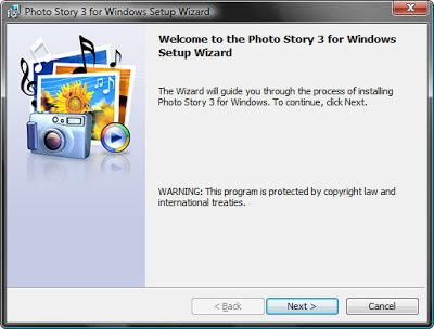 установка бесплатной программы для создания видео презентаций из фотографий Photo Story 3
