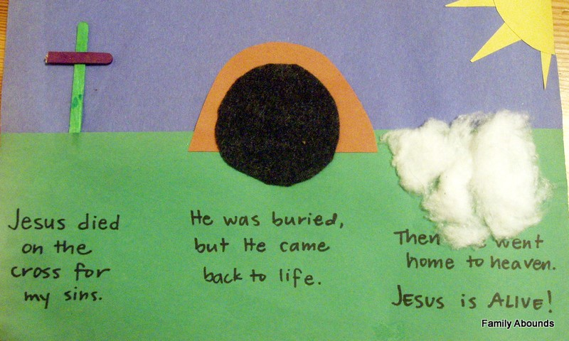 Family Abounds Easter Salvation Storyboard Craft