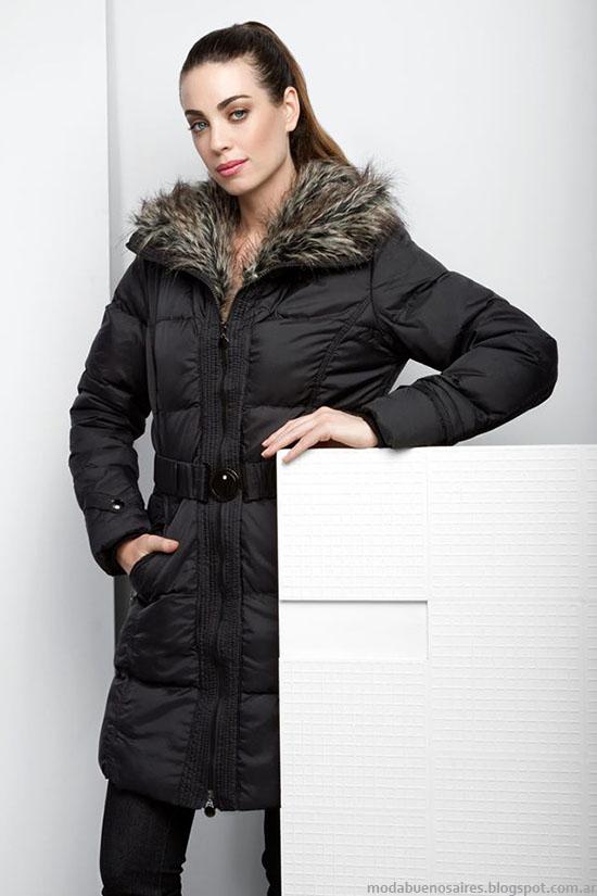 Camperas 2015 de mujer con detalles en piel, NMD otoño invierno 2015.