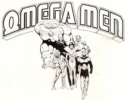 Dibujo de Omega Men por Keith Giffen