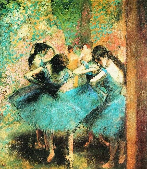 Эдгар Дега. Голубые танцовщицы. Ок. 1890.
