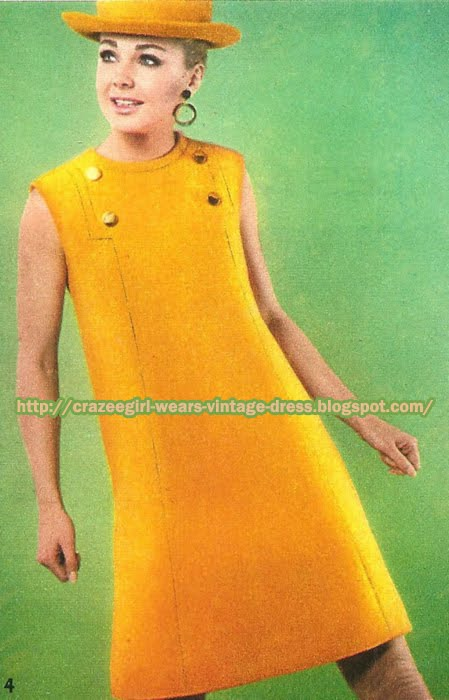 Yellow wool dress - Maria Carine pour Jacques Heim 1967 60s 1960 mod sleeveless