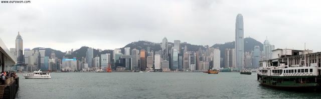 Skyline de Honk Kong visto de día