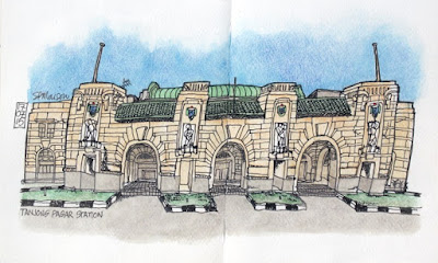 Tanjong Pagar railway station sketch