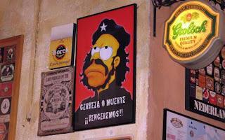 Homer Simpson de El Che Guevara