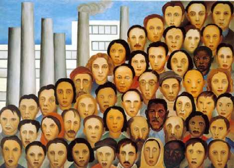 """""""Operários"""" (1933), de Tarsila do Amaral"""