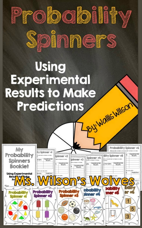 http://www.teacherspayteachers.com/Product/Probability-Spinners-Using-Experimental-Results-To-Make-Predictions-1380902