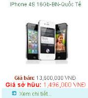 Tra gop Iphone 4s 16GB