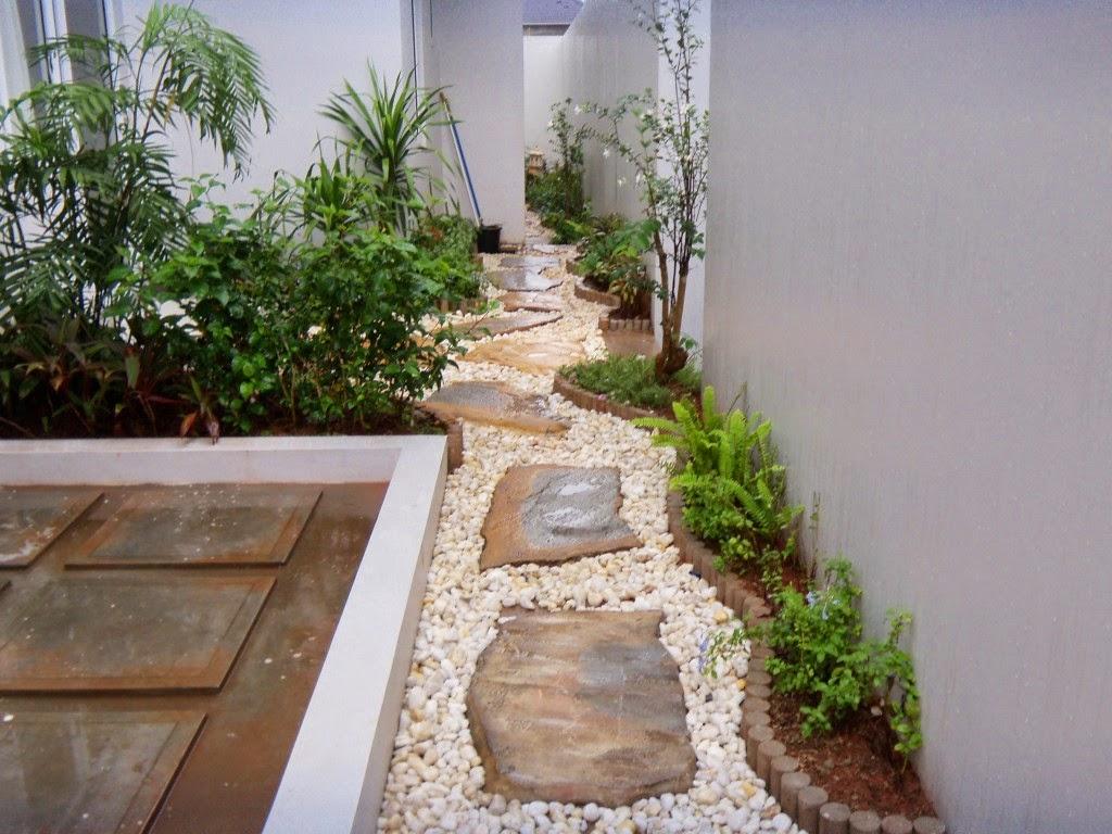 Model Desain Taman belakang Rumah minimalis