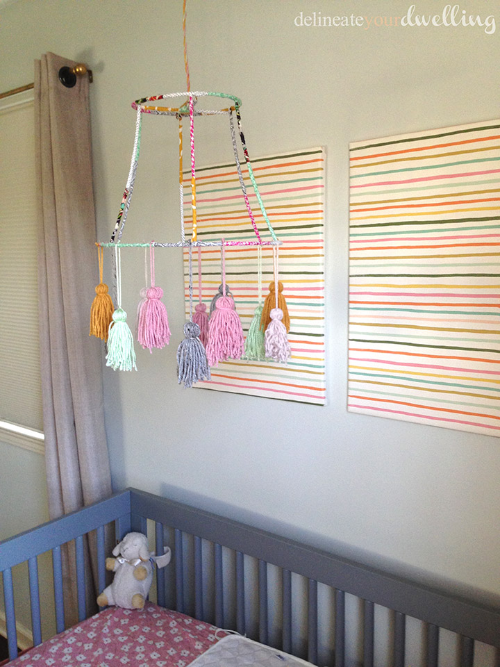 Baby Girl's Nursery, Delineate Your Dwelling #nursery #girldecor #DIY