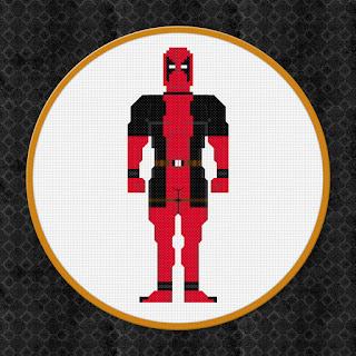 Deadpool - Cross Stitch PDF Pattern Download