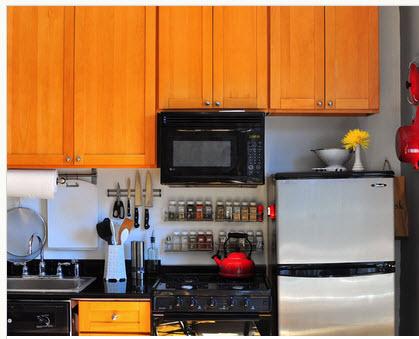 Dise o de cocina peque a con ideas y fotos construye hogar for Decoracion para minidepartamentos